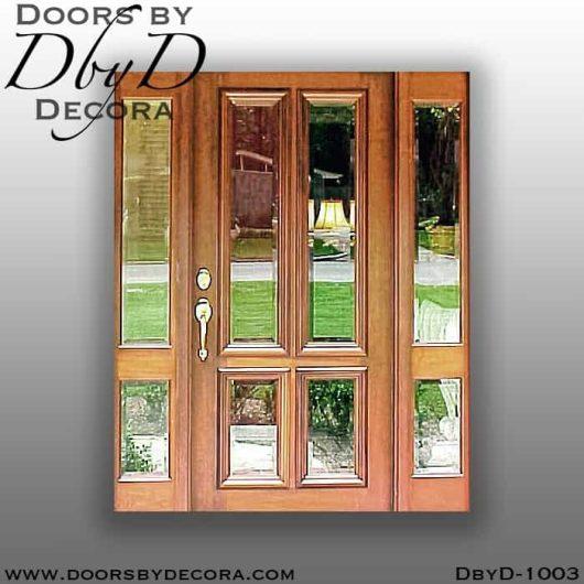 estate 4-Lite front door and sidelites