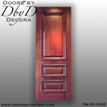 estate 3-panel solid door