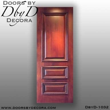 estate 3-panel solid door