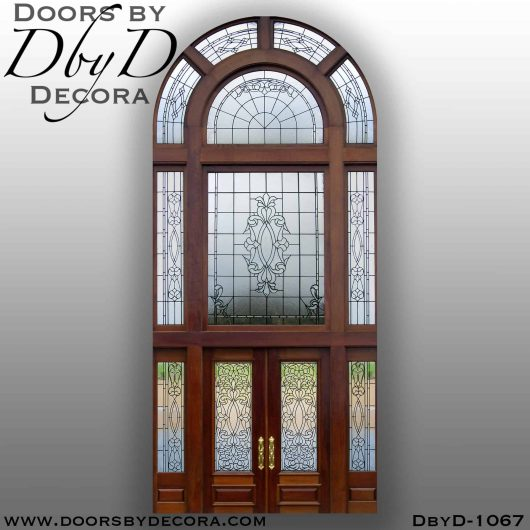 estate large leaded glass entry