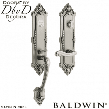 Baldwin satin nickel kensington 3/4 handleset.