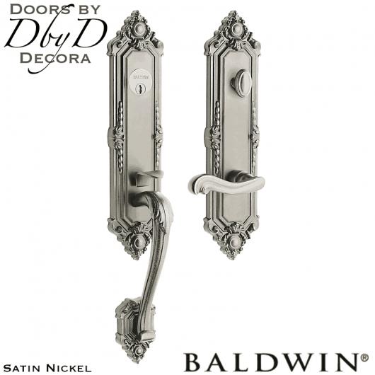 Baldwin satin nickel kensington 3/4 handleset.