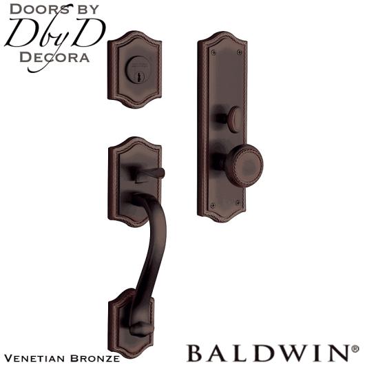 Baldwin venetian bronze brixton handleset.