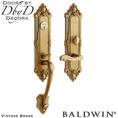 Baldwin vintage brass kensington 3/4 handleset.