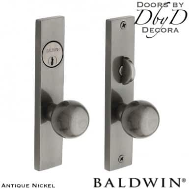 Baldwin antique nickel detroit entrance trim.