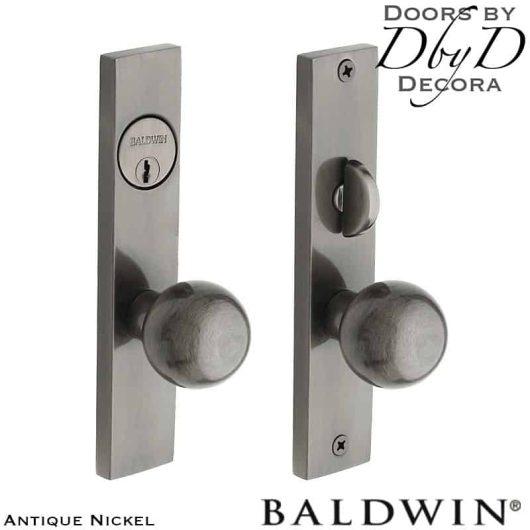 Baldwin antique nickel detroit entrance trim.