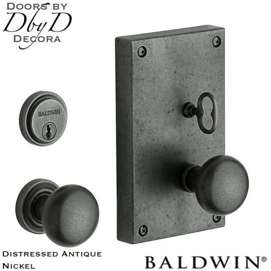 Baldwin distressed antique nickel georgetown entry trim.