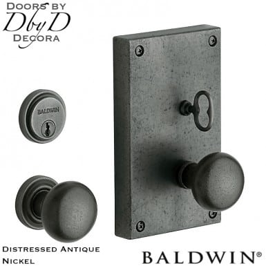 Baldwin distressed antique nickel georgetown entry trim.
