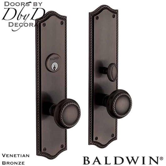 Baldwin venetian bronze barclay entrance trim.