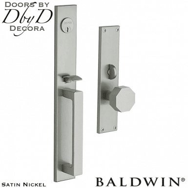Baldwin satin nickel atlanta handleset.