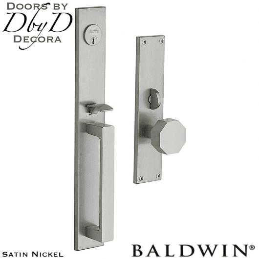 Baldwin satin nickel atlanta handleset.