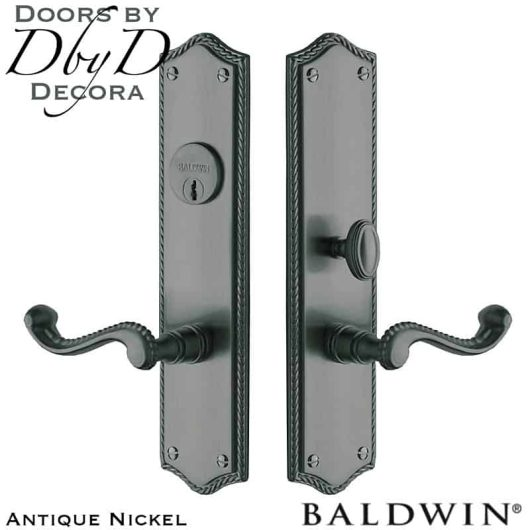 Baldwin Antique Nickel Bristol entrance trim