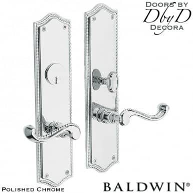 Baldwin polished chrome bristol entrance trim.