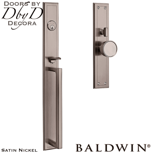 Baldwin satin nickel hollywood hills full handleset.