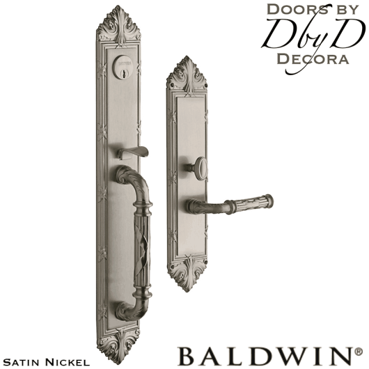 Baldwin satin nickel edinburgh handleset.
