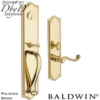 Baldwin polished brass bristol full handleset.