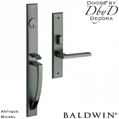 Baldwin antique nickel lakeshore handleset.