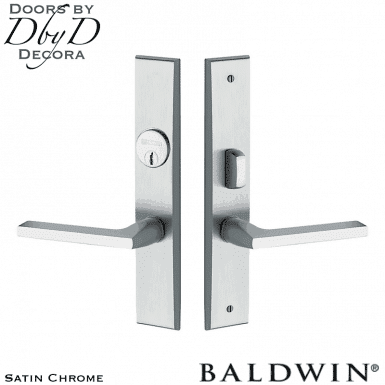 Baldwin satin chrome lakeshore entry trim.