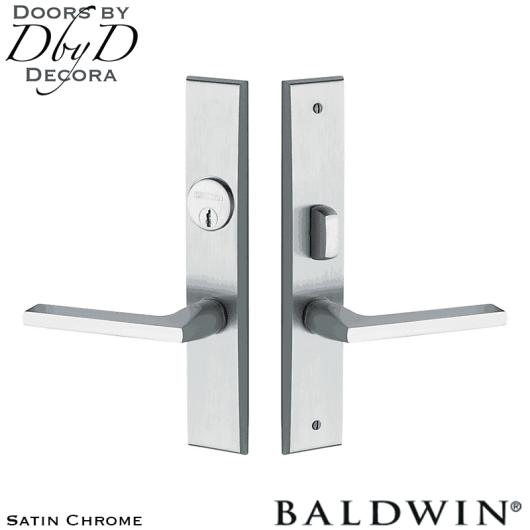 Baldwin satin chrome lakeshore entry trim.