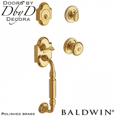 Baldwin polished brass canterbury handleset.