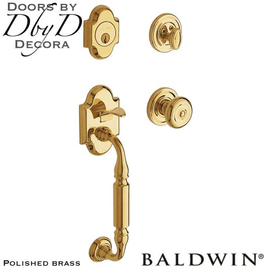 Baldwin polished brass canterbury handleset.