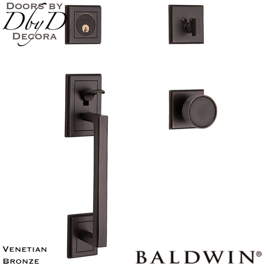 Baldwin venetian bronze hollywood hills sectional handleset.