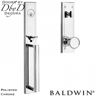 Baldwin polished chrome hollywood hills full handleset.