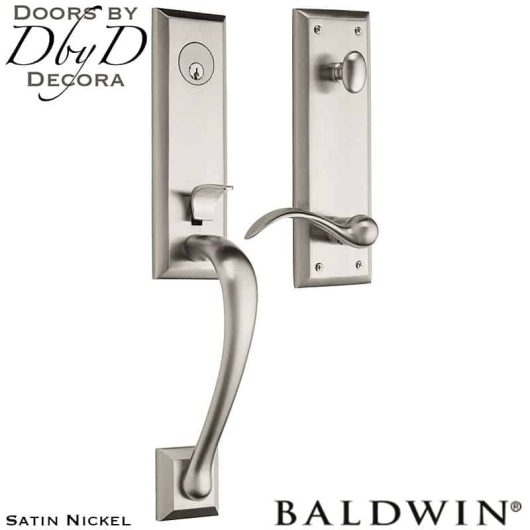 Baldwin satin nickel cody 3/4 handleset.