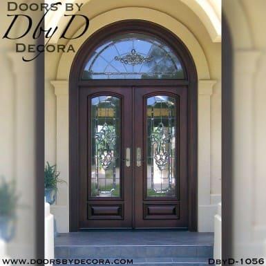 estate double leaded glass doors