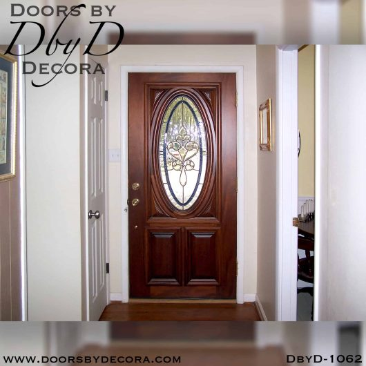 estate leaded glass oval door