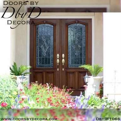 estate exterior leaded glass doors