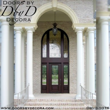 estate tall leaded glass entry