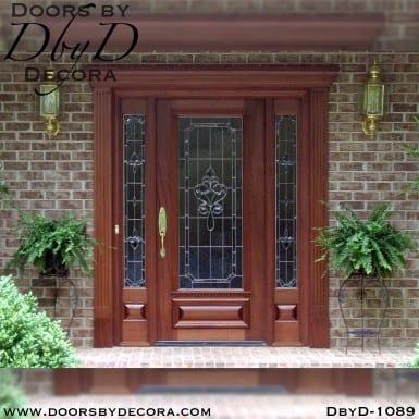 estate leaded glass traditional door