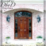 french country wood entry