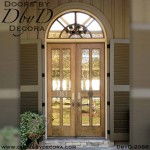 french country 4-lite double doors