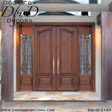 french country double doors and sidelites