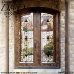 french country full lite doors with iron