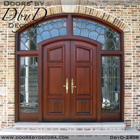 french country doors sidelites and transom