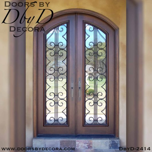 french country doors with iron grills