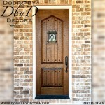 old world hand distressed door