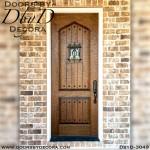old world hand distressed door