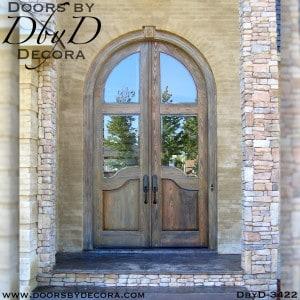old world tall radius double doors