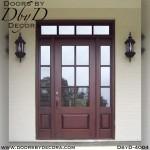craftsman door with transom