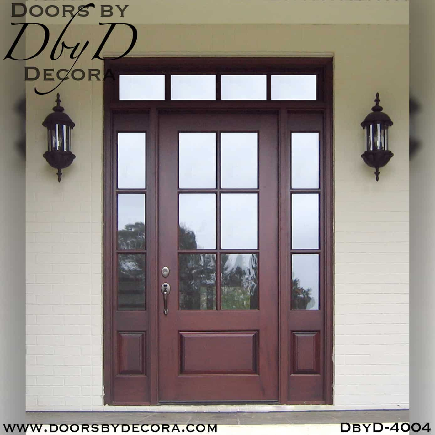 Custom Craftsman Door With Transom Wood Entry Doors By Decora