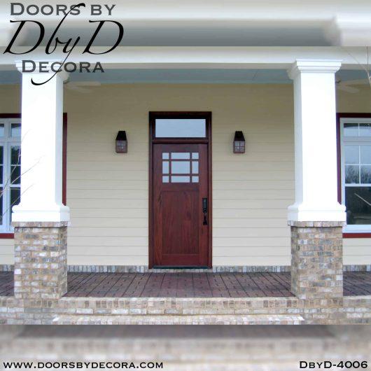 craftsman door and transom
