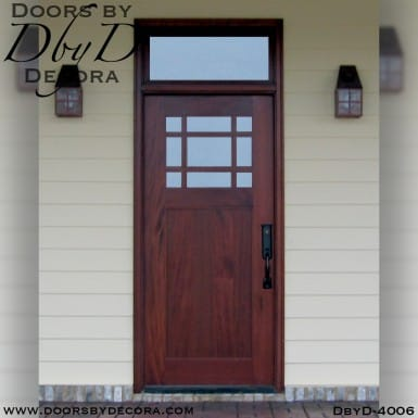 craftsman door and transom
