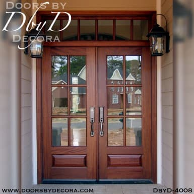 craftsman double doors and transom