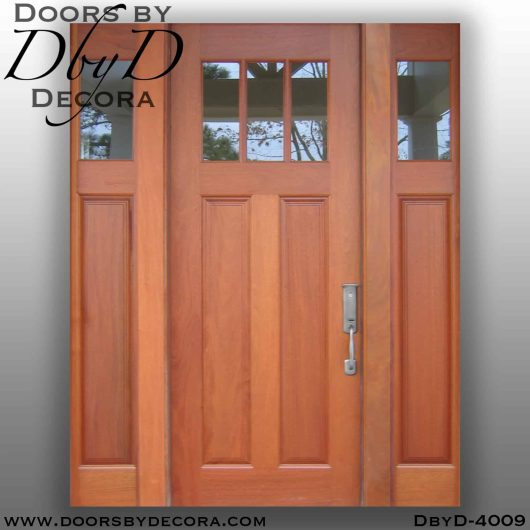 craftsman door and sidelites