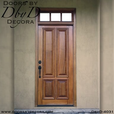 craftsman four panel door with transom