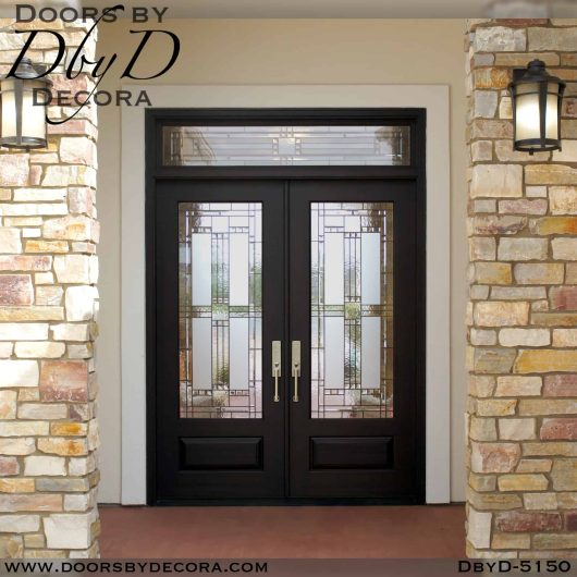 contemporary door and transom